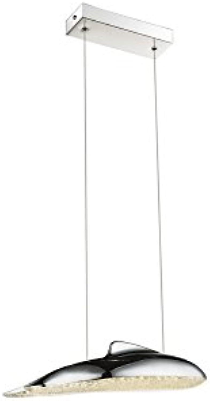 LED Kristall Decken Pendel Leuchte Wohn Zimmer Wal Optik Chrom Pendel Lampe Globo 56131-18H