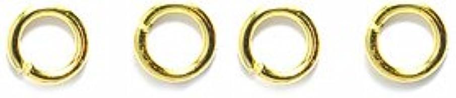 Shipwreck Beads Electroplated Brass 21-Gauge Jump Rings, 4mm, Metallic, Gold