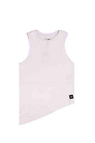 Sixth June - Camiseta de tirantes asimétrica con visillo blanco 1874V blanco...