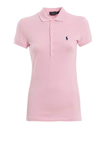 Polo Ralph Lauren Stretch Mesh/Julie Polo Camiseta, Rosa (Country Club Pink 000), Large para Mujer