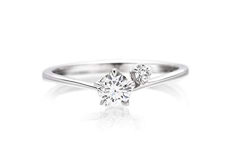 LEGAN エンゲージリング 婚約指輪 永遠の輝き プラチナ ダイヤモンド 0.2ct UP ギフトボックス付 R-4990 13号