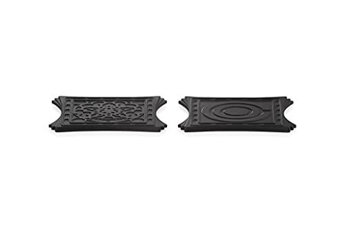 Le Creuset Dessous de Plat Magnétiques, Lot de 2, silicone, 9.5 x 9.5 cm, Noir Onyx