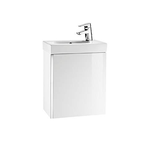 Roca–Waschtisch Waschbecken–Waschtisch Unik Mini 450–Waschtisch + Waschbecken–weiß glänzend