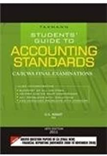 Taxmann Student's Guide To Accounting Standards : CA, ICWA Final Examination