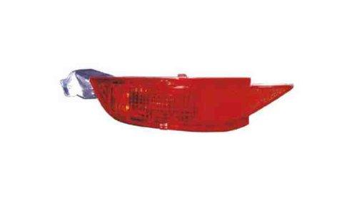 Piloto Paragolpes Trasero Izquierdo For. FIESTA Mk7 3/5P (08->13) sin portalámparas Antiniebla Trasero Rojo EN PARAGOLPES TRASERO