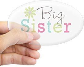 Grote zuster Bloem Stickers Vinyl Auto Decals Bumper Stickers Grappige Stickers voor Laptop, voor Kinderen, Kerstcadeaus