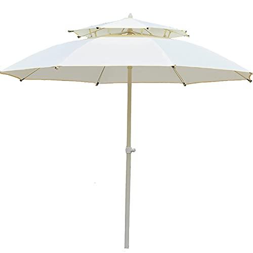 Riyyow Paraguas Parasol Paraguas Paraguas al Aire Libre Mesa de Mesa con ventilación eólica, Paraguas del Mercado de 7 pies para jardín/Patio/Piscina, Costillas a Prueba de Viento de 3 Capas