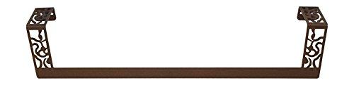 Lantia Bath Toallero Recto Art Déco, Forja Marrón Rustico 45 cm