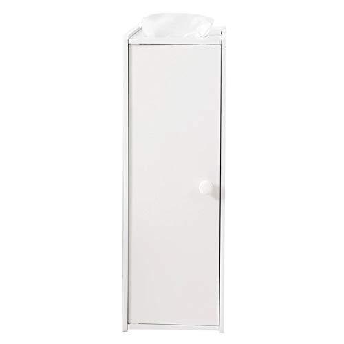 Goodvk Armarios de Baño Muebles de PVC Baño Estrecho Cabina de Inodoro Baño Cabineta Cabineta Esquina Rack Sundies Hack Mueble Muebles Muebles Estante Fácil de Instalar