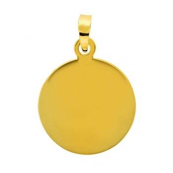 AvenueDuBijou – Colgante chapado en oro amarillo de 18 quilates + cadena de oro amarillo