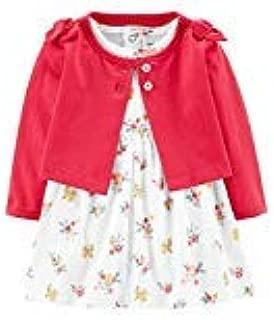 Carter's Baby Girls' 2-Piece Floral Bodysuit Dress & Cardigan Set- Pink