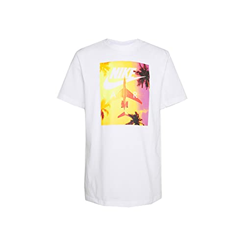 NIKE M NSW tee Swoosh by Air Photo T-Shirt, White, Mens