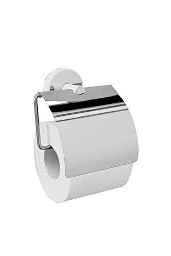 Kapitan Portarrollos de Papel higiénico baño Pulido Acero Inoxidable y ABS, 3 M VHB Cinta Adhesiva Montaje en Pared