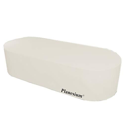 Holi Europe Funda protectora para muebles de jardín (ovalada, 150 x 100 x 70 cm), color blanco