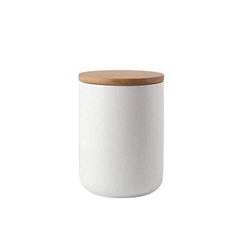 Haosens Vorratsdose Keramik,Porzellan kaffeedose teedose aufbewahrungsdosen küche Zuckerdose,Dose für Tee, Dose für Kaffee - Verschiedene Lagerung,einfach und elegant 800ml (Weiß)