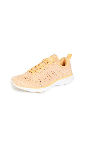 APL: Athletic Propulsion Labs Women's Techloom Pro Sneakers, Golden Sun/White, 11 Medium US