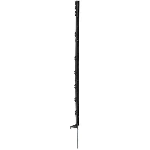 Piquet de clôture en PVC - Black Edition 105-7 isolateurs - 105 cm - Lot de 20 pièces