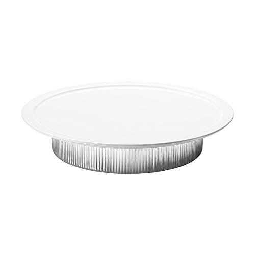 Georg Jensen Bernadotte Serving Plate, Stainless Steel & Porcelain