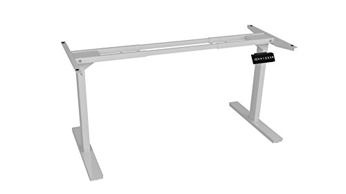 Ergo Elements, White 2 Motor Electric Standing Desk Workstation 4 Memory Buttons LED Display