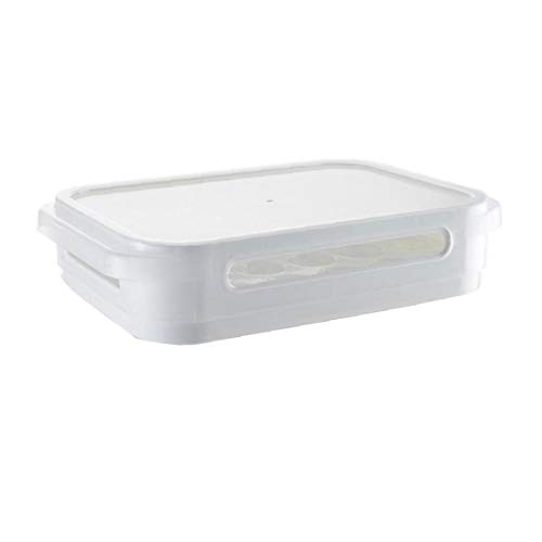 Suministros Caja De Almacenamiento De Huevos De Una Sola Capa Frigorífico Huevo Recipiente De Múltiples Funciones Huevos Hermético Contenedor De Almacenamiento De Plástico Caja De La Cocina 1pc Blanca