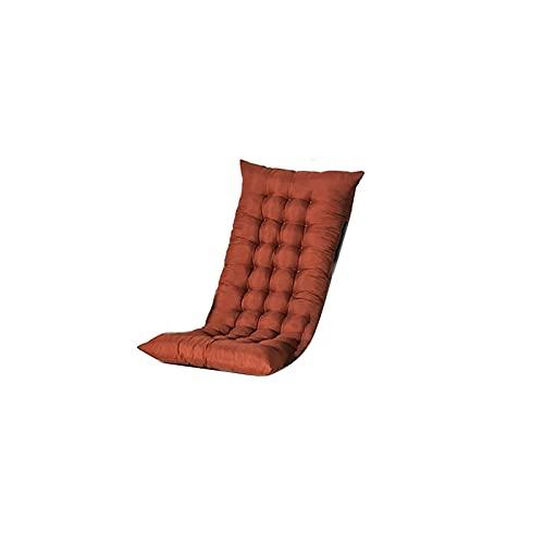 Pteng Recliner Kissen Sitzkissen Stuhlkissen, Faltbarer Recliner Schaukelstuhl Langes Kissen Doppelseitig verdickter Stuhl Couch Sitzpolster Hausgarten Liege Matte, kein Stuhl (Khaki)