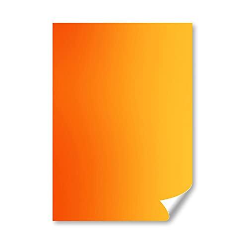 DV DESIGN 1 carte de vœux A5 - Orange jaune dégradé de couleur - Photo graphique #21969