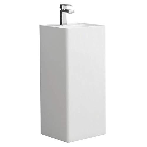 STONEART Standwaschbecken LZ512 weiß/40x40cm/glänzend
