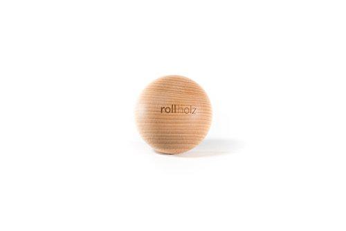 rollholz Kugel 7cm Buche Faszienball Holz | Massageball | Fuß Nacken Rücken Training Faszien Massage Ball | Hart