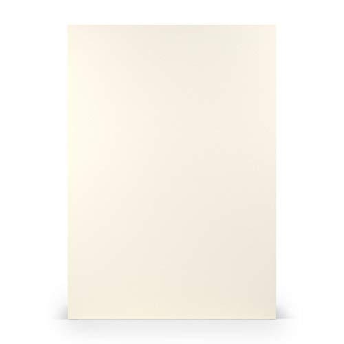 PAPERADO 50x Tonpapier DIN A4 - Ivory gerippt Gelb 160 g/m² Papierbögen - Bastelpapier in 29,7 x 21 cm Malen, Basteln & Drucken
