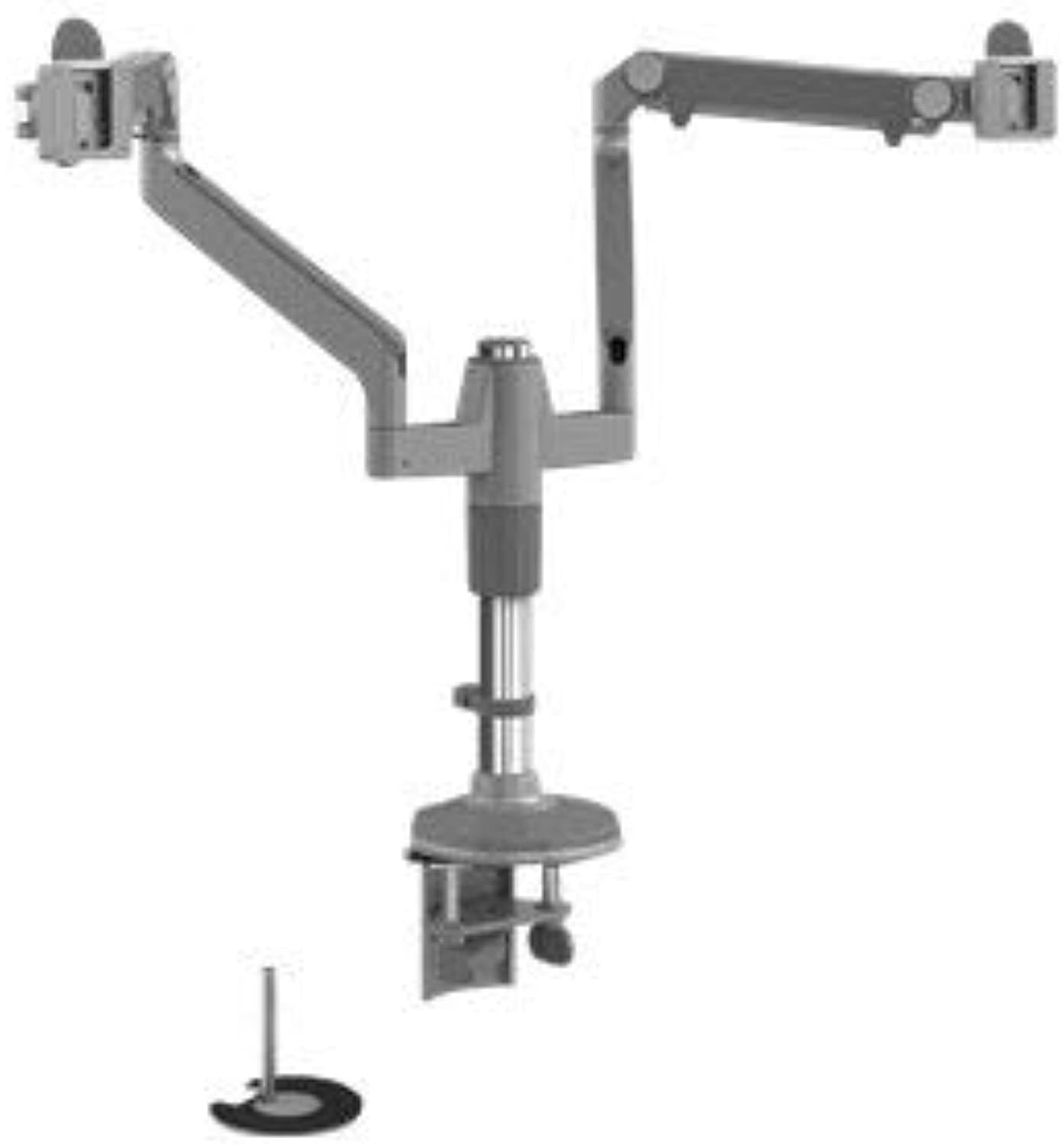 Humanscale M Flex Dual-Monitor Mounting Arm with Dual Bolt Clamp Mount (Model MF22S11D12)