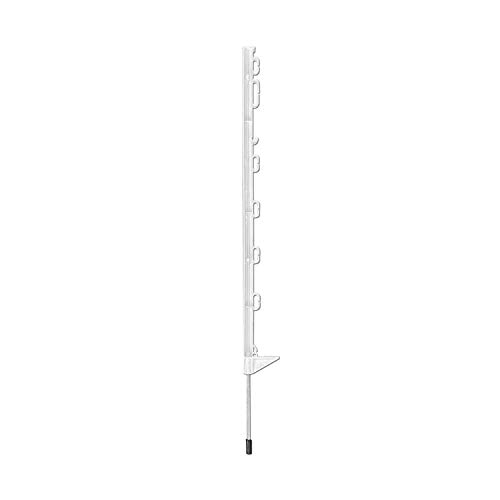 horizont Weidezaunpfähle, 10er Pack, 74 cm hoch, 7 Ösen für Band und Litze, Kunststoff , vollisoliert, Weidezaun
