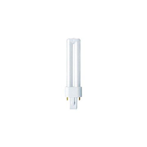 Osram Lampada Fluorescente Compatta G23, 9 W, Bianco, Tubolare