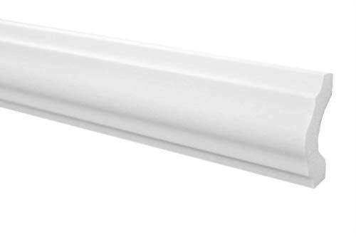 Marbet Deckenleisten aus Styropor XPS - Hochwertige Stuckleisten leicht & robust im modernen Design - (20 Meter Sparpaket E-18-19x38mm) Wandleiste