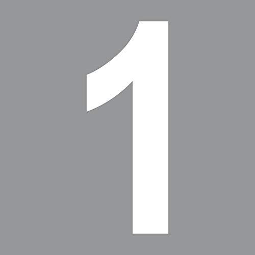 GreenIT 10cm weiß Wunsch Wahl Buchstabe ABC Ziffer Zahl Nummer Hausnummer Aufkleber Tattoo Deko Folie (1)