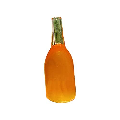 osyare Mini botella de vino para casa de muñecas 1:12, simulación simulación juego de cristal casa de muñecas botella de cristal DIY accesorios foto accesorios D