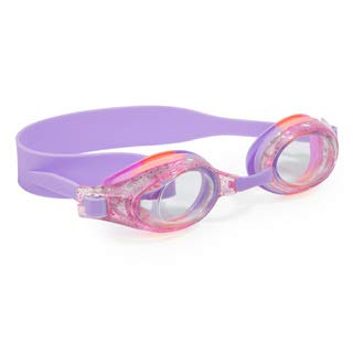 AQUA2UDE Girl's Swimming Goggles - Fun Coral and Pink, No Leak Goggle Set for Kids - No Fog and UV Protection
