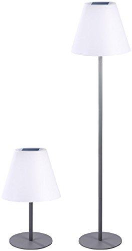 Lunartec Kabellose Stehlampe: Kabellose Solar-LED-Tisch- & Stehleuchte, 1,6 W, 50 lm, IP44 (Schnurlose Stehlampe)