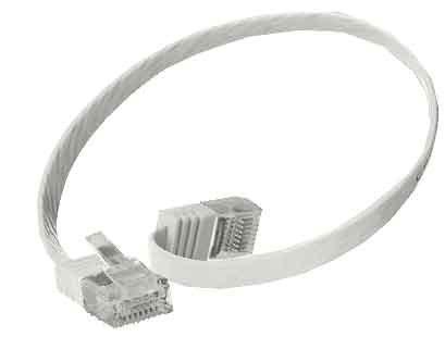 kab24® Flexibles Netzwerkkabel Patchkabel Computerkabel LAN Kabel CAT6 UltraSlim dünnes Flachkabel GBit/s
