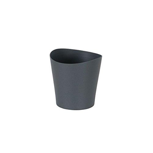 greemotion Petit pot de fleur gris 12,5 cm - Pot pour orchidée - Pot de plante aromatique - Petit pot de fleur en plastique - Pot de fleur déco pour l'intérieur