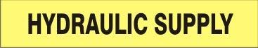 Hydraulic Supply – Pipe Marker Adhesive 22 Vinyl- Units - Rare Dallas Mall