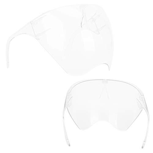 Anti-Niebla Transparente Protector De Cara Revestimiento De Cara Completa Visa Protectora para Escuelas De Oficina Restaurantes Escudo Facial Claro