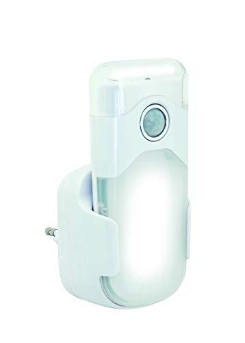 VELAMP R720 Torcia d'Emergenza Automatica con Funzione Luce di Cortesia e Rilevatore di Movimento, Bianco