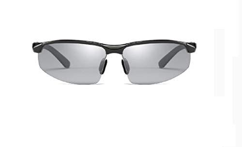 YANGSANJIN mannen gepolariseerde zonnebril 100% UV bescherming mannen bril sport reizen, zonnebril metalen frame anti-UV spiegel zonnebril