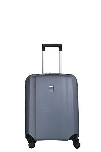 TITAN 4-Rad Koffer Handgepäck mit TSA Schloss + USB-Schleuse, erfüllt IATA-Bordgepäckmaß, Gepäck Serie XENON: Kratzfeste Hartschalen Trolleys, 849406-25, 55 cm, 38 Liter, bluestone (blau)
