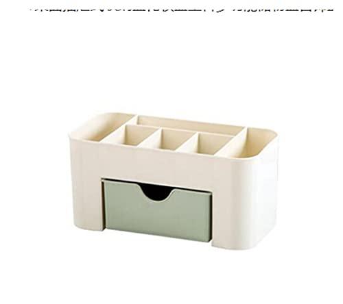 SIRENK Caja de Almacenamiento cosmético Cosméticos de Escritorio Caja de Almacenamiento de cajones de Escritorio Tres Colores Opcionales (Color : Green)