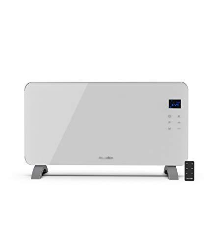 UNIVERSALBLUE | Panel Calefactor de Cristal Templado | 1500W | Color Blanco | 2 Potencias | Control táctil | Pantalla led | Sistema de Seguridad | Termostato Ajustable