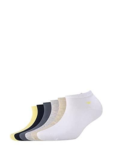 TOM TAILOR Damen Socks Sneakersocken im Sechserpack yellow cream,39-42,S312,3000