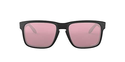 Oakley Men's OO9102 Holbrook Square Sunglasses, Matte Black/Prizm Dark Golf, 55 mm
