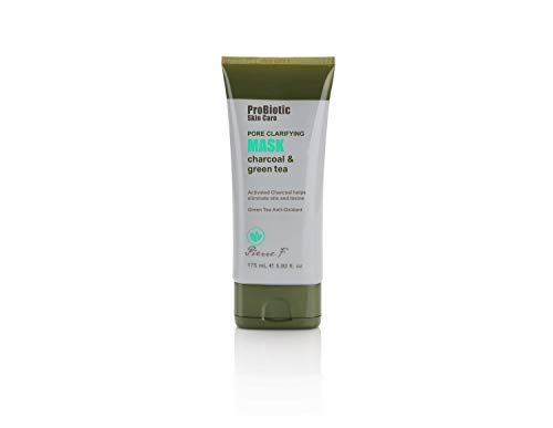Pierre F Probiotic Pore Clarifying Mask Charcoal and Green Tea, 5.92 Fluid Ounce