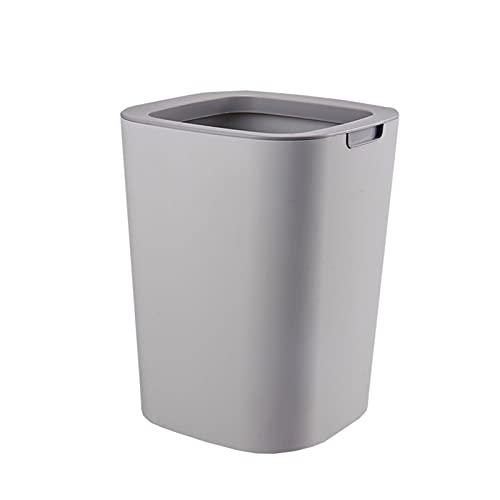 Oikupe Contenedor de Basura doméstico sin Tapa Cesto de Basura Papelera Papelera Papelera para baños Salas de Polvo Cocinas Hogar Oficinas,Gris